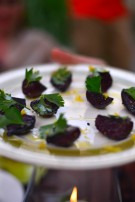 Serve still-warm beets with parsley, lemon zest and oil.